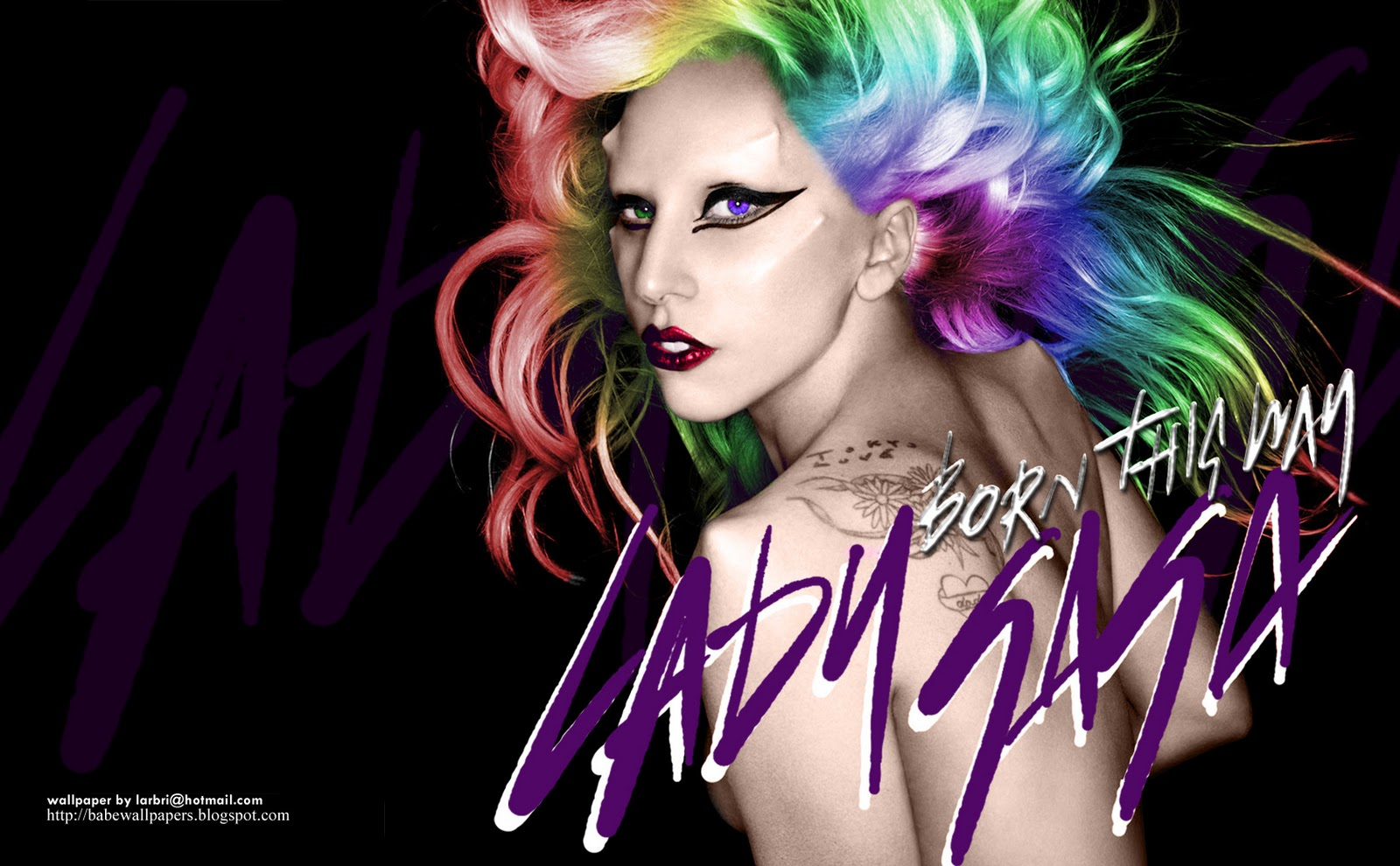 Click To See World: Lady gaga wallpaper born this way