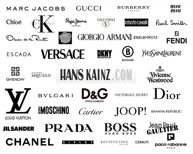 Clothing LogosFashion And Clothing Logos And Names