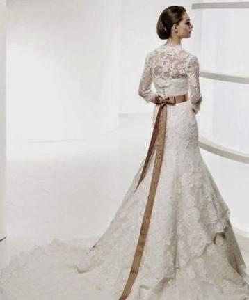Vestido de Novia Elegante de Encaje con Chaleco