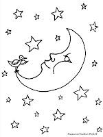 Mewarnai Gambar Bulan Dan Bintang