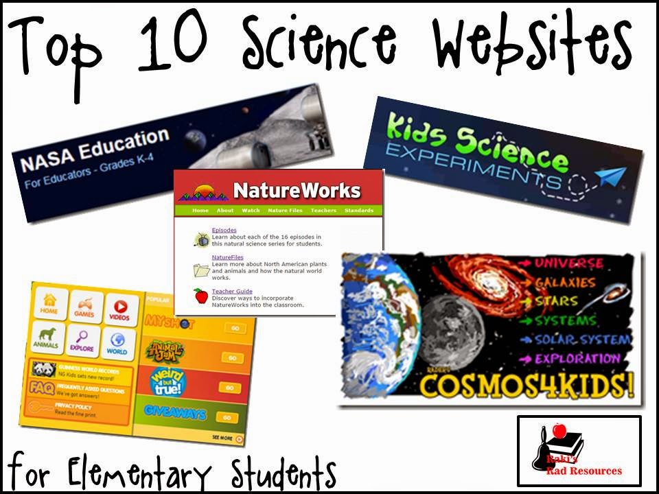Elementary Classroom Websites ~ Raki s rad resources top science websites for the