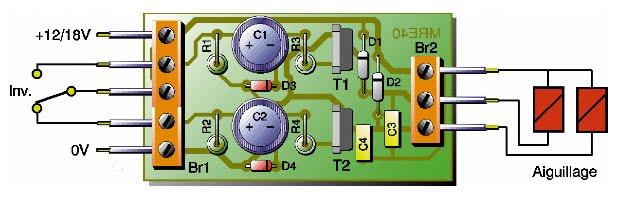 Montage commande d 39 un aiguillage double bobine - Nettoyer circuit imprime ...