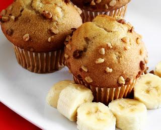 Muffin de banana,aveia e chia light