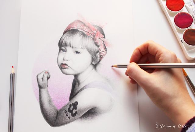Dibujo día internacional de la mujer
