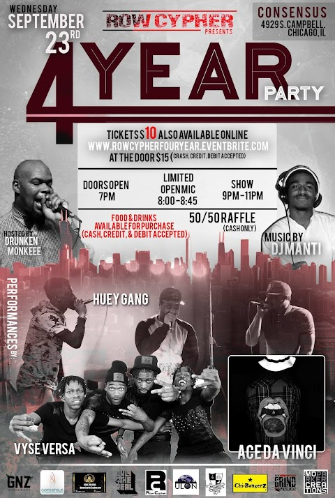 CHICAGO EVENT: Row Cypher 4 Year Celebration