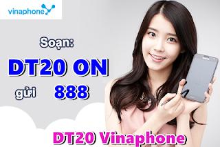 Cách đăng ký 3G DT20 Vinaphone 1 tuần 1GB data