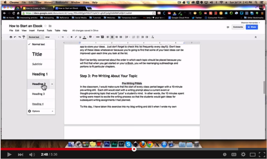 Two simple ways to create a table of content in google for Table of contents google docs
