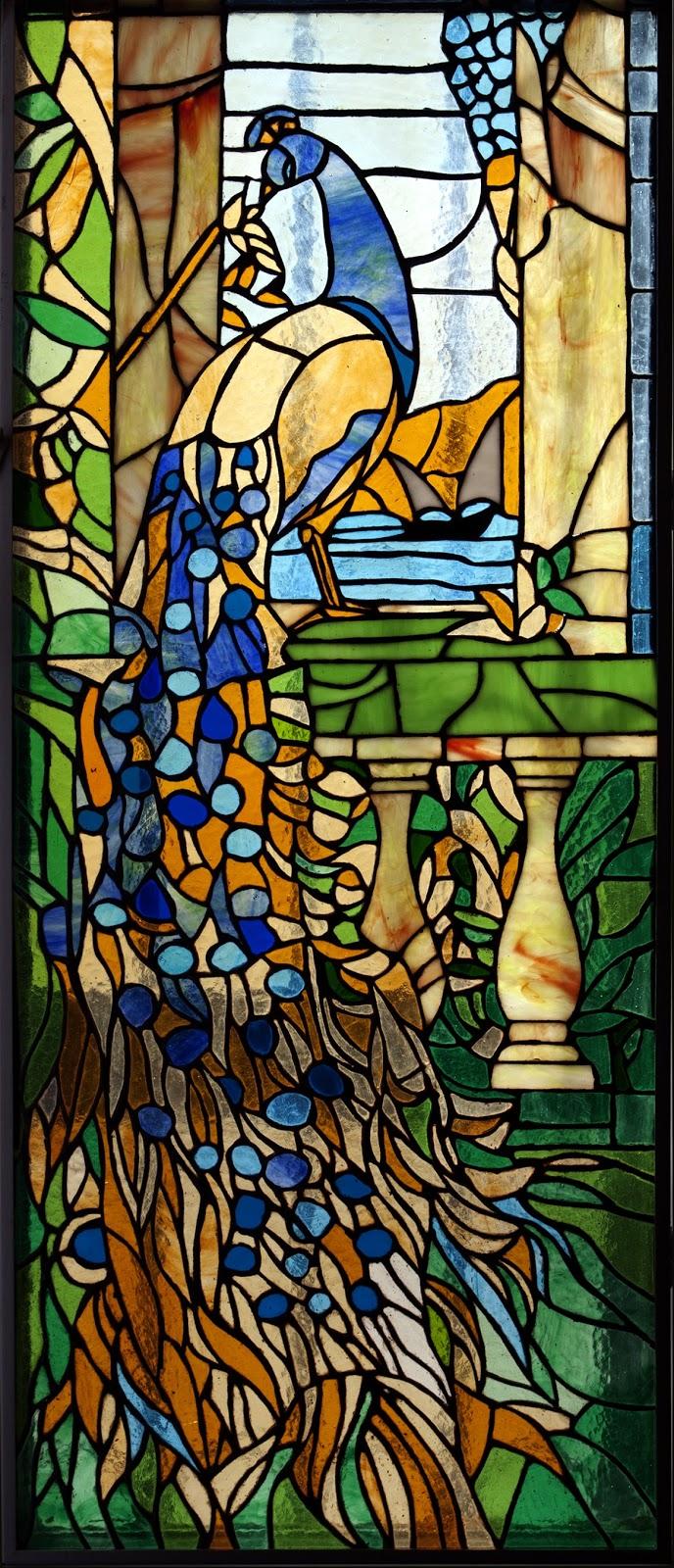 Laboratorio di vetrata e mosaico pavone for Disegni vetrate