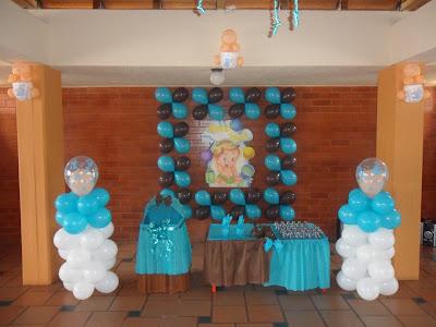 Decoraciones con globos para baby shower y fiestas - Decoracion de baby shower nino ...