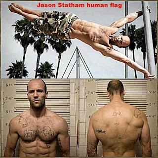 Jason Statham Human Flag