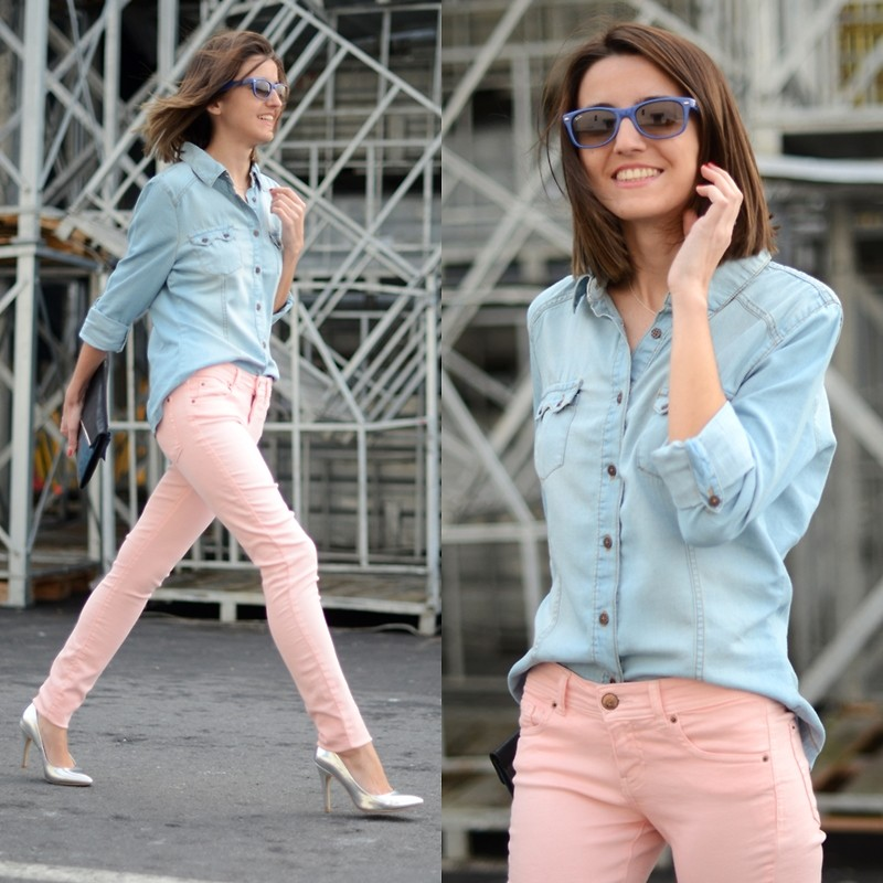 Watch - How to pink wear pastel jeans video