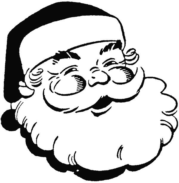 Imagem linda do Papai Noel para Colorir Barba