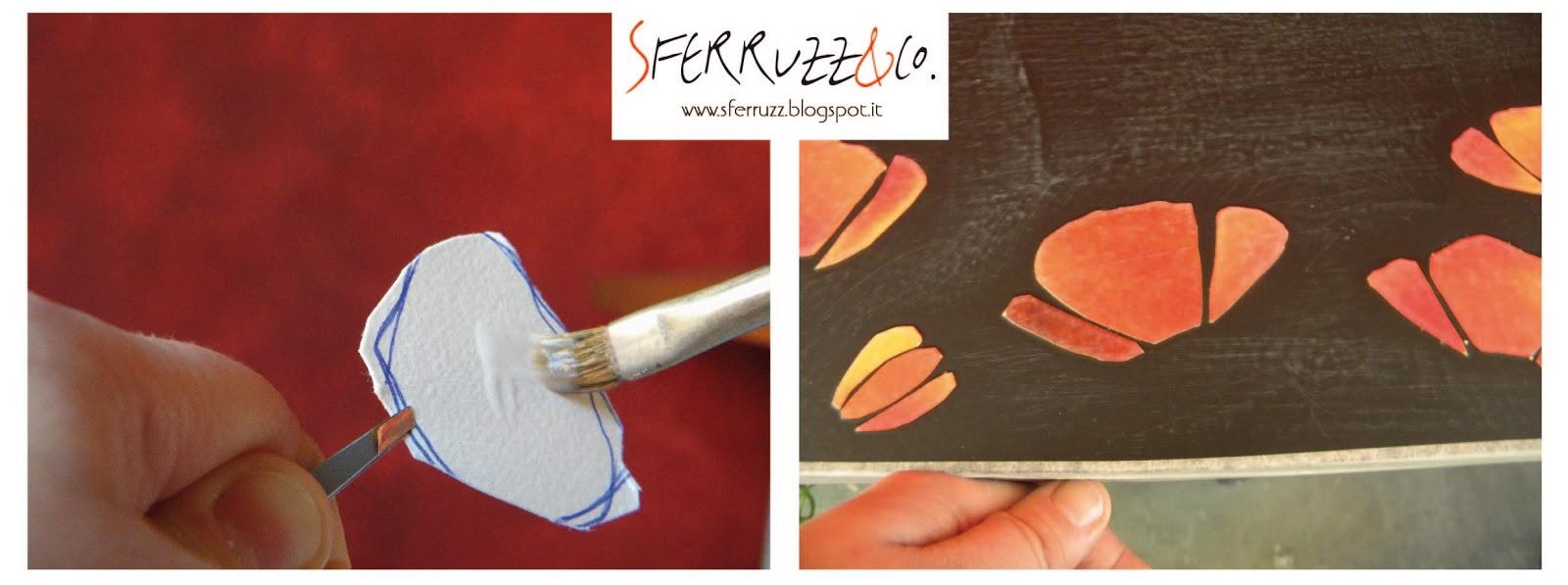 Sferruzz co i papaveri e la f rmica storia di un tavolo ridipinto - Decoupage su mobili in formica ...