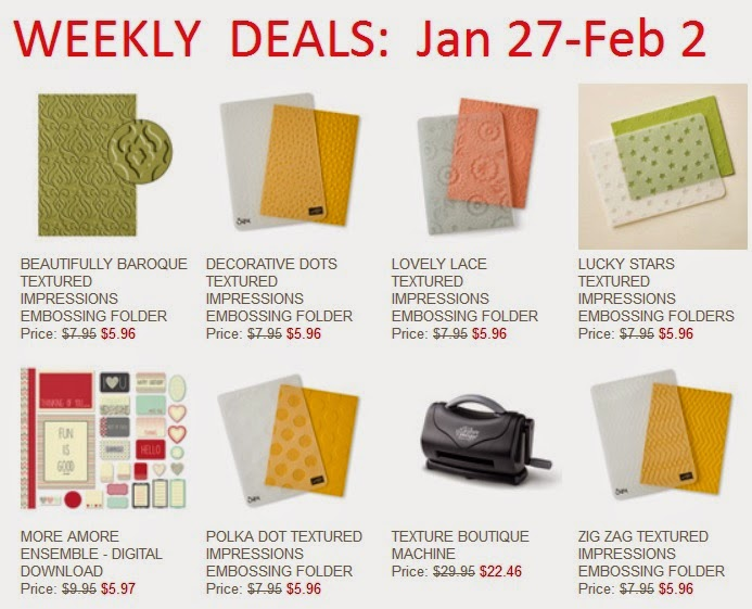 image of Stampin'UP!'s Weekly Deals for Jan 27 2015