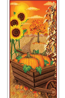 Fall Door Cover - Thanksgiving Decorations