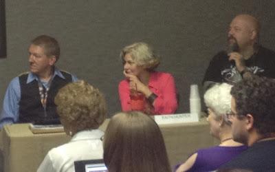 ConCarolinas, writer's panel, authors, photo, Schubert, Hunter, Tuck