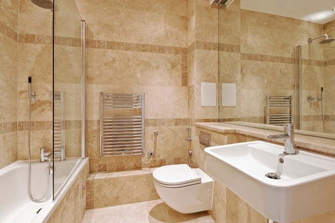 Innovative modern bathroom designs with stone walls and for Modern bathroom wall tile designs