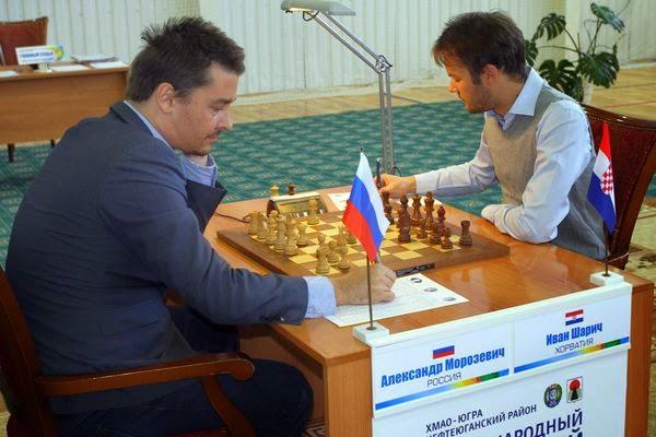 Les leaders Alexander Morozevich (2719) et Ivan Saric (2666) ont annulé entre eux ronde 5