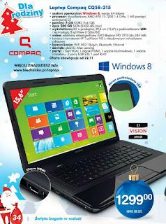Laptop HP Compaq CQ58-215 z Biedronki ulotka