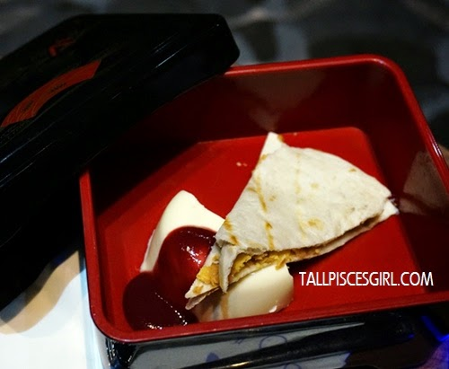 Awesome Nutty Tortilla Banana and Signature Panna Cotta to munch on while watching Lucy!
