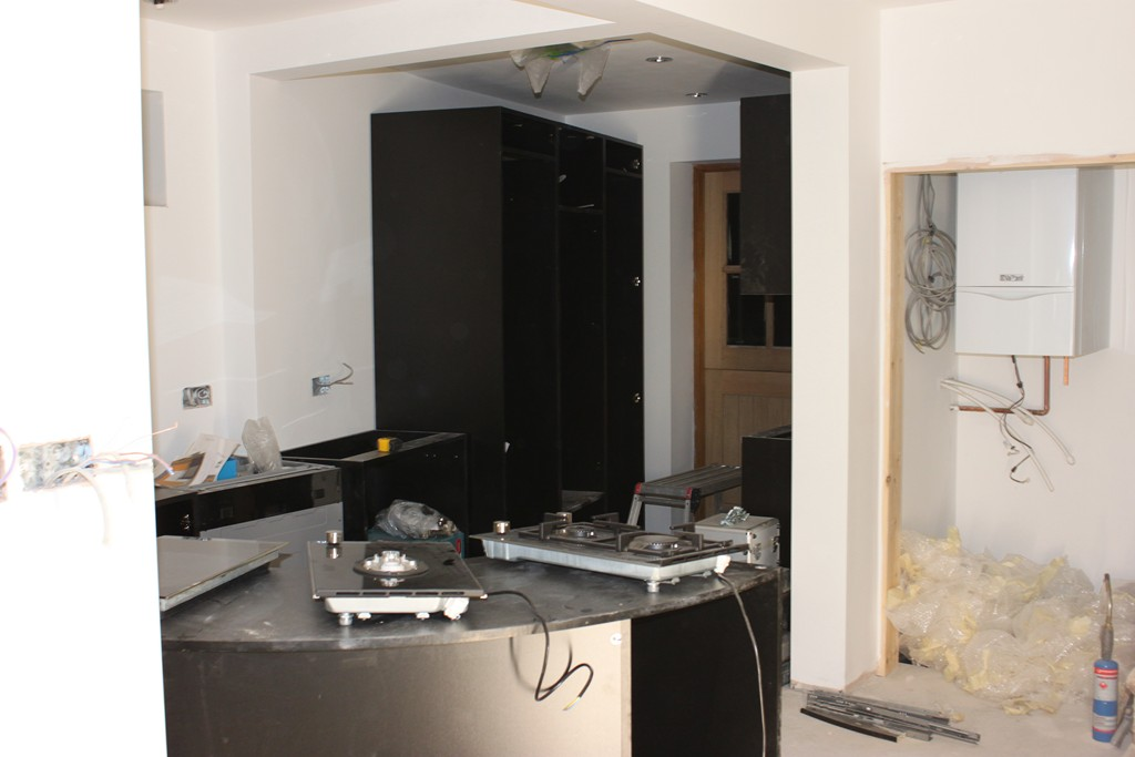 Holmfirth House Extension And Renovation Kitchen Arrives Fitting Starts