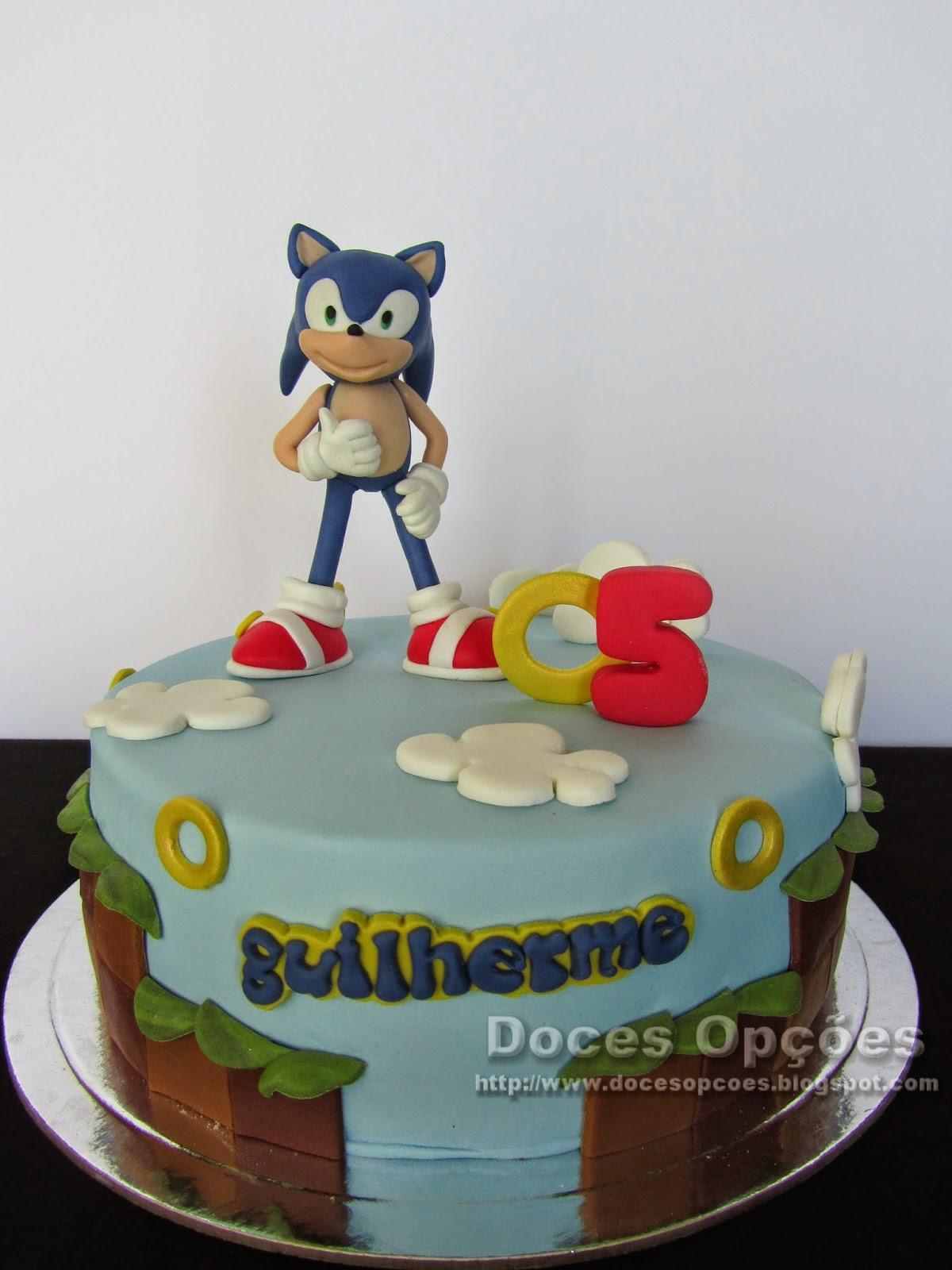 Bolo de aniversário com o Sonic