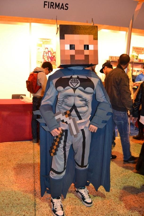 Cosplay de Batman estilo Minecraf en Mangafest 2013