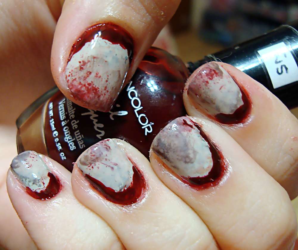 Last Halloween Manicure: BLOODY CUTICLES | Polished Love ♥