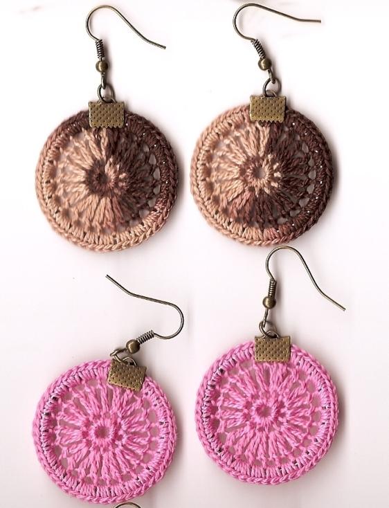 Tejiendo Maule: Aretes Tejidos a Crochet