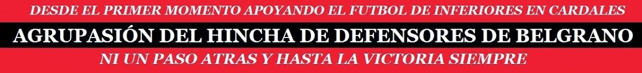 AGRADECIMIENTO A TODOS LOS HINCHAS QUE CREEN Y COLABORAN PARA QUE ESTE PROYECTO SIGA A ADELANTE