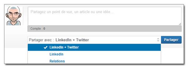 Connecter Twitter et LinkedIn