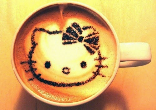 kitty coffee art