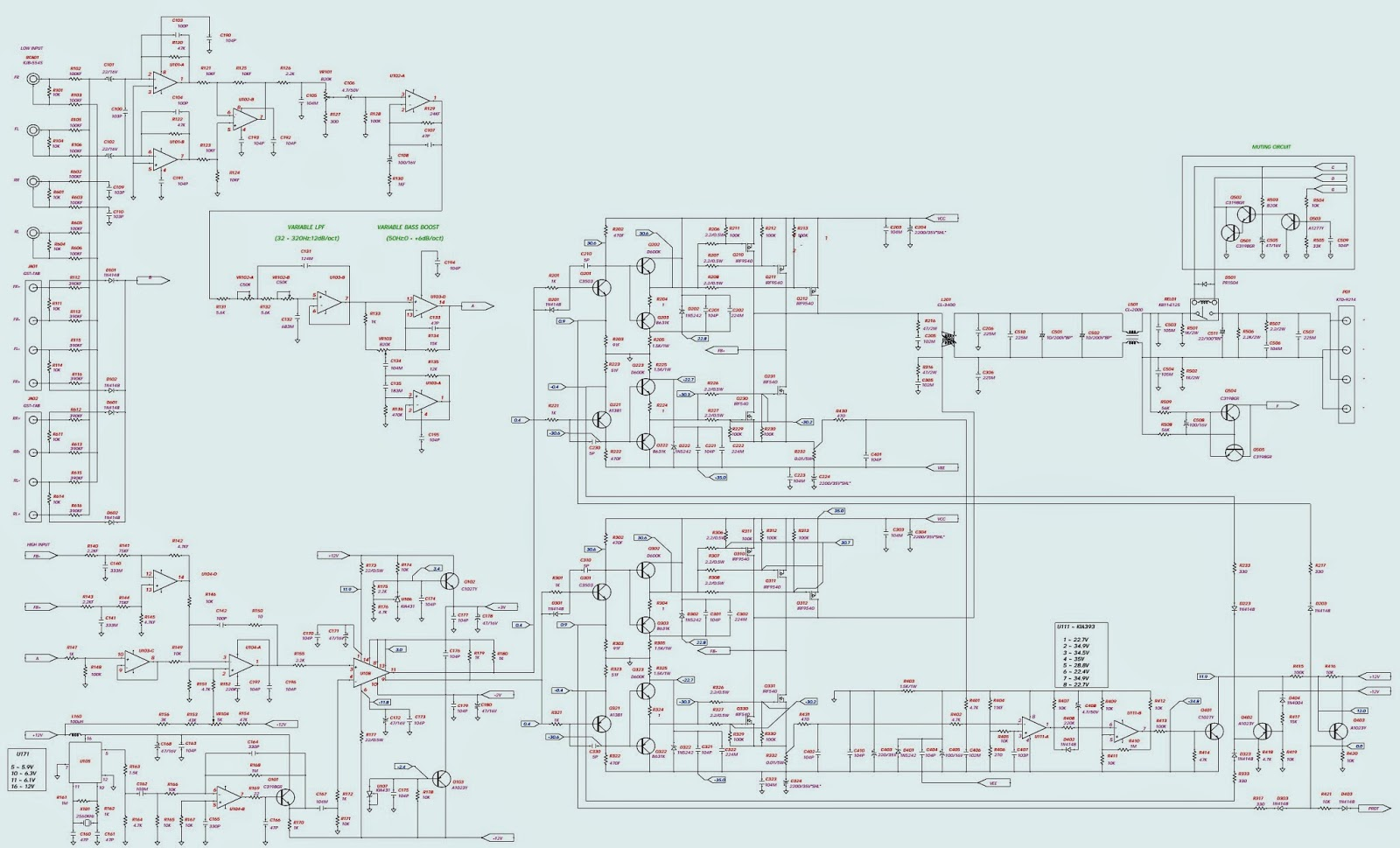 Jbl Car Stereo Wiring Diagram : Bp jbl schematic circuit diagram wiring