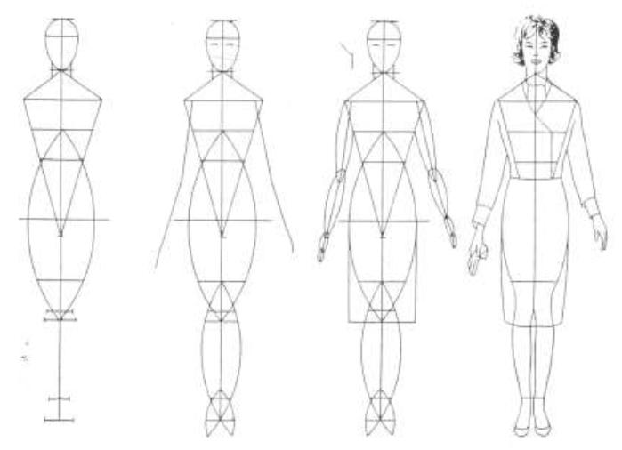 Mujeres y alfileres introducci n al dise o de modas for Dibujos de disenos de moda