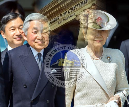 BOC Examiner Opens Diplomatic Pouches for Japan Emperor