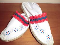 Zapatillas dulce corazón rojo
