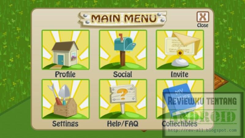 Menu Farm Story versi 1.9.6.4 - Permainan android bertani dan saling berkunjung via internet (rev-all.blogspot.com)