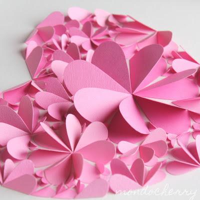 Поделки из бумаги цветочки сердечки 50