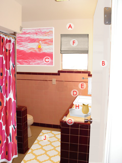 remodel, pink and burgundy, designHow to update a mid-centurry bathroom on a budget, ugly bathroom makeover
