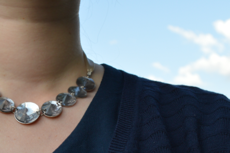 F&F, necklace, navy blue, detail, ootd, outfit, Pimkie