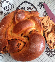 Delicious fig stuffed challah