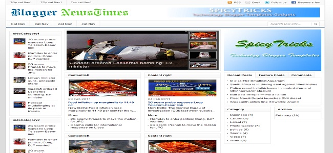 News Times Blogger Template
