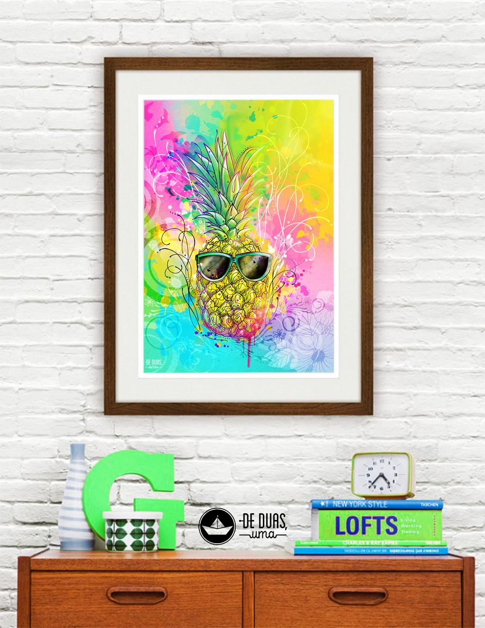 ilustração de verão abacaxic