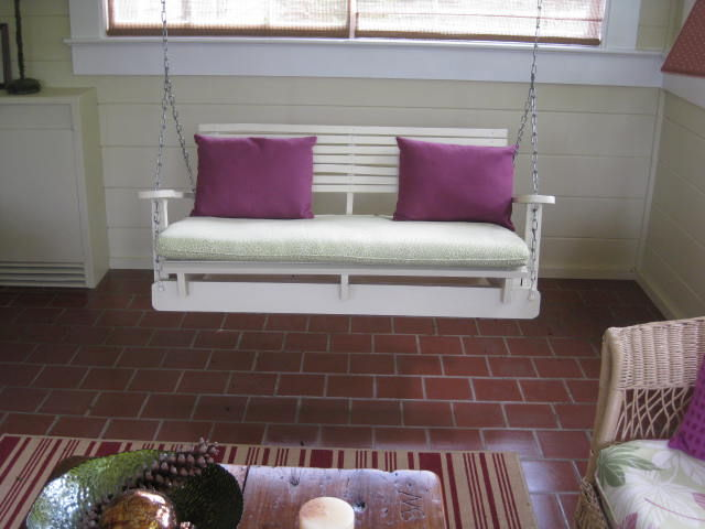 Construir con palets un sof balanc n - Como hacer un sofa con palets ...