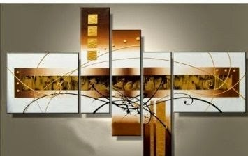 Santin Art - 100% Hand-painted Free Shipping Wood Framed Golden Clouds Home Decoration Modern Abstract Oil Painting on Canvas