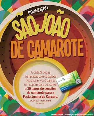 como participar promoção Riachuelo Camarote 2013