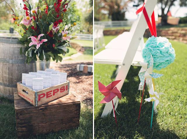 detalle para decorar tu boda con molinillos de papel