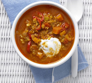 Spiced lentil and ginger soup
