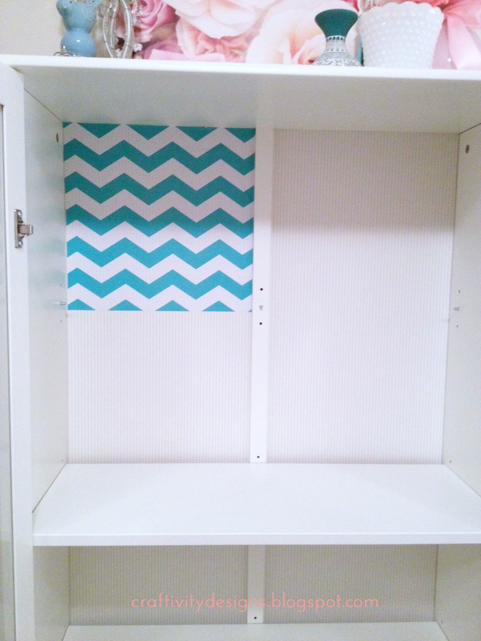 Add contact paper inside a cabinet by Erica from Craftivity Designs (guest  post)