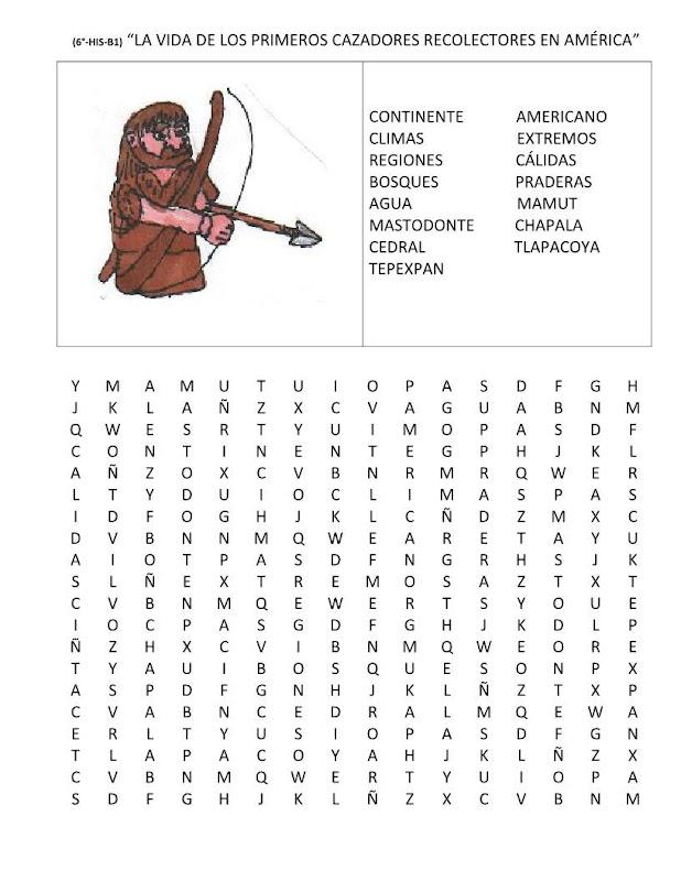 Sopa de letras de los nómadas